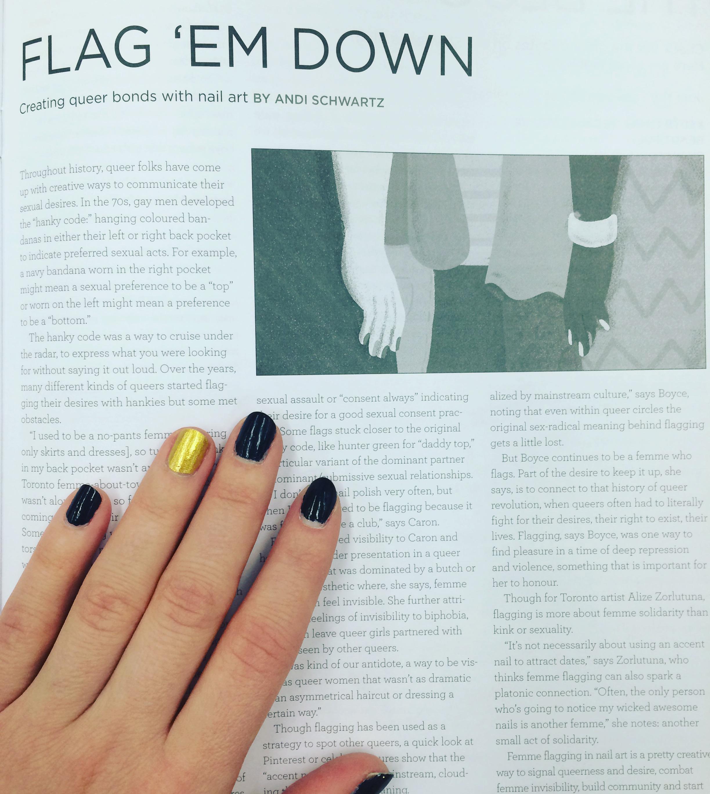 Nail femme code flagging polish 1 nail